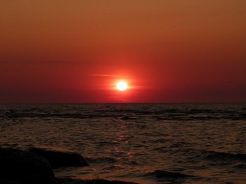 Mereoja Camping beach sunset
